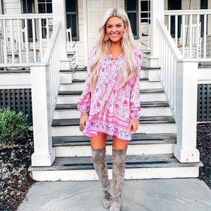 Goodnight Macaroon Sherry Bohemian Pink Dress